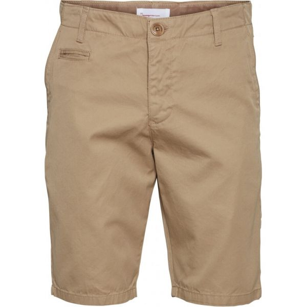 Knowledge Cotton Chino-Shorts Chuck Bio-Baumwolle Fairtrade Beige