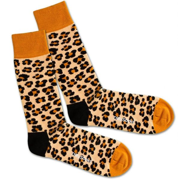 DillySocks LeopardSkin Damen Socken Bio-Baumwolle Fairtrade