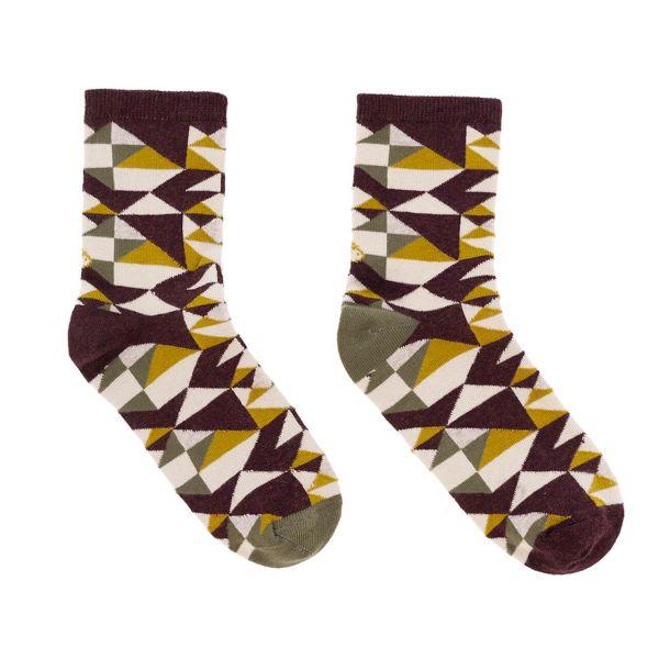 Lolo Carolo Damen Socken geometrisch