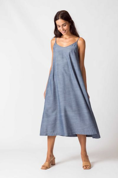 SKFK Langes Spaghetti Kleid Urbia Fairtrade Mode