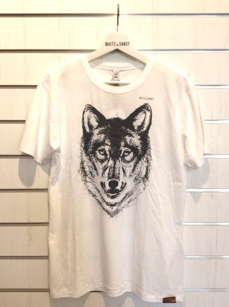 White & Sandy T-Shirt Wolf