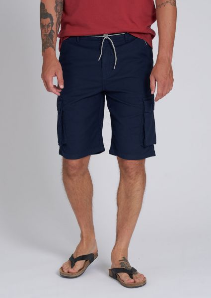 Recolution Männer Cargo Shorts Bio Fairtrade Dunkelblau