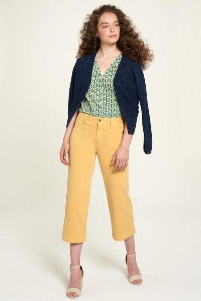 Tranquillo 3/4 Flared-Leg Bio-Jeans Bio-Denim Fairtrade Gelb