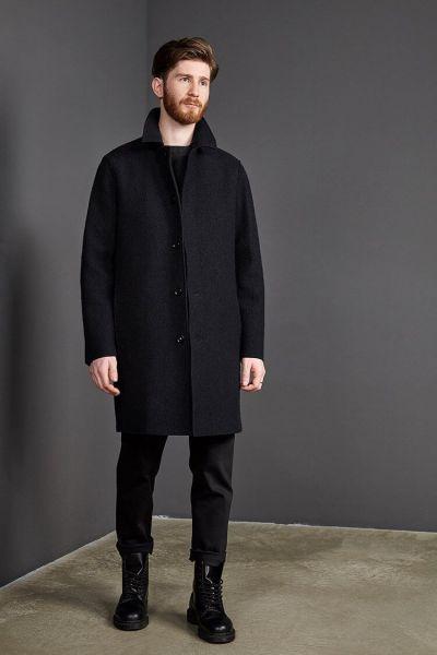 LangerChen Nachhaltiger Männer Mantel Gehrock Collbran Tech-Wolle