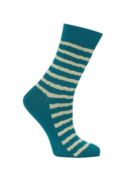 Komodo Ringelsocken Socken Petrol Fairtrade Bio Baumwolle