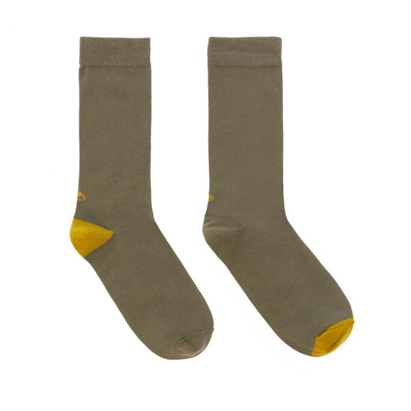 Lolo Carolo Herrensocken Basic Khaki Bio-Baumwolle Fairtrade