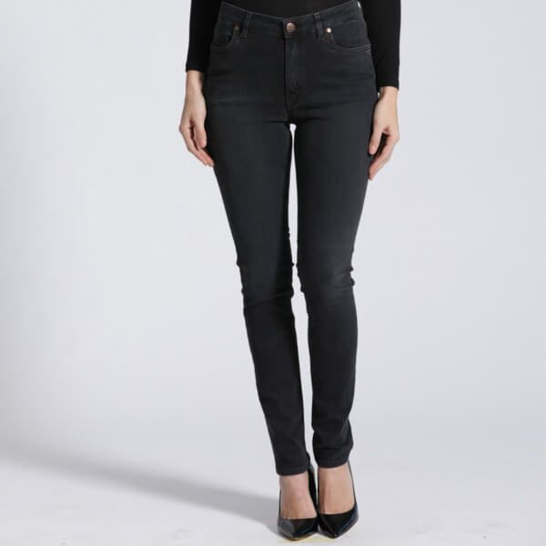 Feuervogl Hanna Highwaist Skinny raven-black eco-fair Fashion