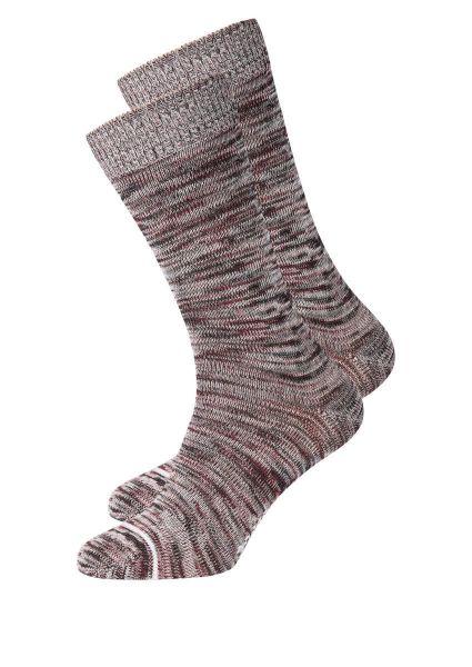 Recolution Socken Vegan rot schwarz weiss meliert