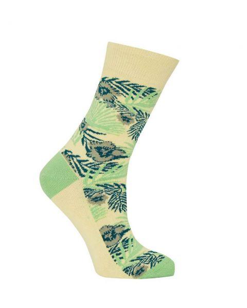 Komodo exotische Blüten Socken Gelb Bio-Baumwolle Fairtrade