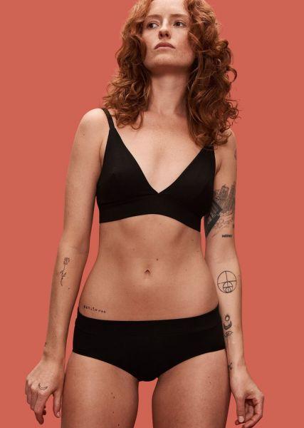Organic Basics 2er Pack Bikini Slip Schwarz