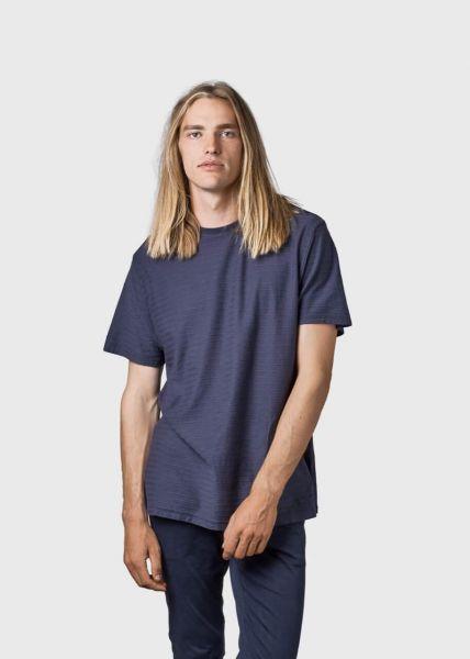 Klitmoller T-Shirt mit Streifenstruktur Lauge-T