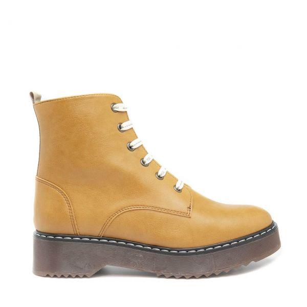 Nae-Shoes Boots Trina Halbstiefel Camel-Gelb Nachhaltig Vegan