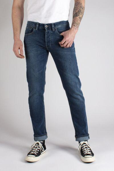 Kuyichi Jamie Männer Slimfit-Jeans Dark-Blue Bio Fair