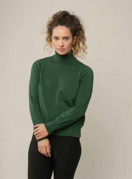 Mela Wear feiner Rollkragen Strick-Pullover Mayura