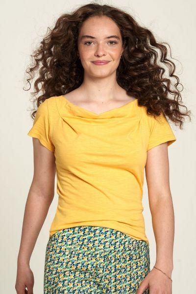 Tranquillo Slub-Jersey Shirt Lore GelbGOTS Fairtrade