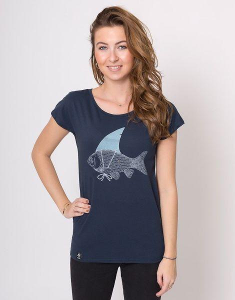 Zerum Haifisch Flosse Damen T-Shirt Lea
