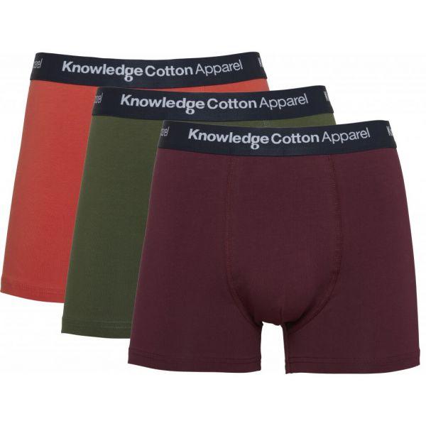Knowledge Cotton, 3er Pack Trunks Unterhosen Bio-Baumwolle