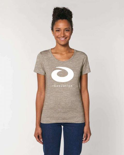 Oikos Revolution Damen T-Shirt Bio-Baumwolle Fairtrade Beige