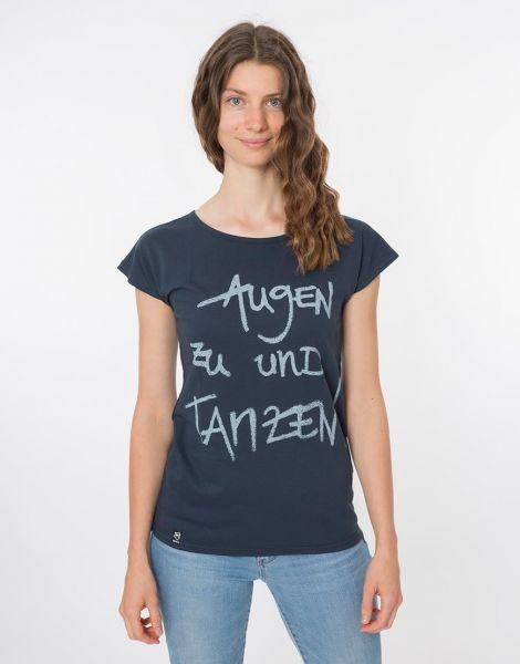 Zerum Augen-zu-und-Tanzen Damen T-Shirt Lea Bio Fair