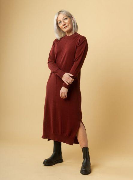 Mela Wear langes Strickkleid Kleid Sunita