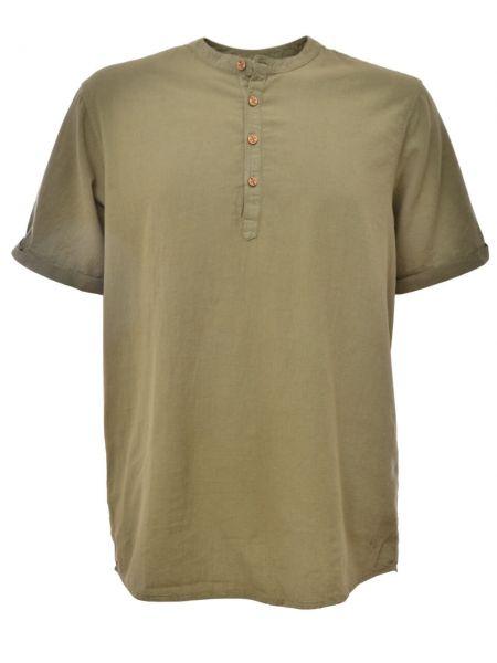 Zerum kurzärmliges Männer Hemd Nachhaltig Bio-Baumwolle Oliv