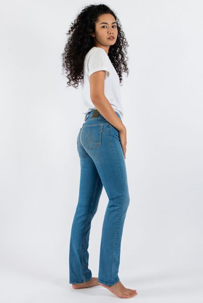 Kuyichi Sara schmale Straight Jeans Very Likely Light Blue