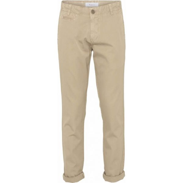 Knowledge Cotton Chinohose Chuck Bio-Baumwolle Fairtrade Beige